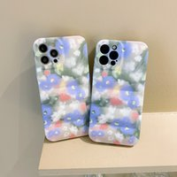 Blooming blue and white flowers phone cases for iphone 13 pro max 12 11 X XR XS 7 8 plus SE case cover