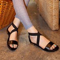 Morazora Größe 31 46 2019 Neue Echtes Leder Schuhe Frauen Sandalen Reißverschlüsse Rot Schwarz Sommer Schuhe Casual Damen Flache Sandalen Weibliche O6xo #