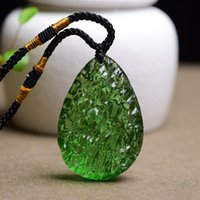Pendant Necklaces Large Czech Moldavite Necklace For Women Jewelry Raw Tektite Green Crystal Crushed Healing Stone Meteorite JS8D