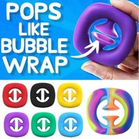 Rainbow Fidget Grob Snap Strizza Spremi Giocattolo Snappers Mani Forza Grip Grabs Squeezy Toys Sensory Toys Autism Sfort Relief