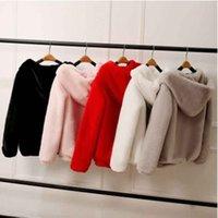 Fashion Pink Fur Coat Elegant Thick Warm Outerwear Fake Jacket Women Winter Top