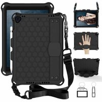 Hybrid Shockproof Armor Shoulder Belt Hand Strap Stand EVA PC Case For iPad Pro 11 2020 Air 10.5 Air2 9.7 2017 2018 7th 10.2 inch Min 3 4 5