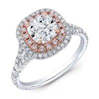Cluster Ringe Hochzeit Braut Ring Set Sterling Silber 925 Glänzende Diamantgeschenke