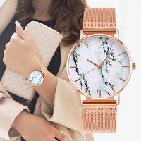 디자이너 시계 브랜드 시계 럭셔리 시계 대리석 여성 손목 여성 쿼츠 선물 Relogio Feminino 드롭 배송