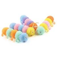 Gommone luminoso morbido di gomma antigiana del giocattolo del toy a cinque sezioni che lampeggiano i giocattoli della decompressione del TPR di Caterpillar TPR CT29