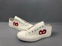 Lüks Klasik Paten Ayakkabı Chuck Tuval Oynamak Ortak Big Gözler Yüksek Üst Nokta Kalp Kadın Erkek Moda Tasarımcısı Sneakers Chaussures 03