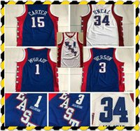 Authentische Nähte 2004 All-Star Tracy 1 McGrady Vince 15 Carter Mitchell Ness Hardwoods Allen 3 Iverson Swingman Basketball Trikots