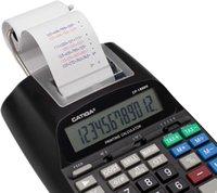 آلة حاسبة طباعة Catiga مع شاشة عرض LCD 12 رقم 2.03 خطوط / ثانية، طباعة ملونة، إضافة آلة للاستخدام المحاسبي، محول التيار المتردد، CP-1800II