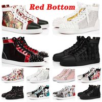 Con caja desinger Red Bottoms Platform Studded Spikes loafers Red Bottom Designer Marca de lujo para hombre para mujer Zapatillas de deporte Zapatos casuales