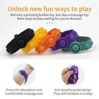 Pop Fidget Reliver Stress Stress Jouets Bracelet Poussez-la Bubble Antistress Adulte Enfants Adulte Jouet cadeau sensoriel pour soulager l'autisme