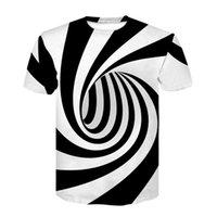 Avrupa ve Amerika Birleşik Devletleri Sıcak Yeni Çift 3D Dijital Baskı T-shirt Vortex Kısa Kollu Gömlek WGTX114