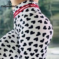 Nadanbao 2020 여성 레깅스 스포트 피트니스 운동 legging 사랑 인쇄 hight 허리 탄성 레깅스 섹시한 여성 바지 1