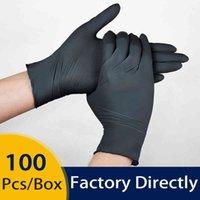 النتريل قفاز أسود 100 قطع المطبخ واقية العمل اليد تنظيف المنزلية المنتجات المتاح قفازات الحديقة