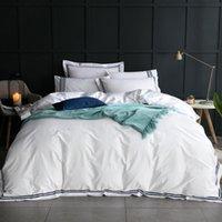 مجموعة مفروشات القطن كامل الملكة الملك أغطية لحاف غطاء ورقة مسطحة أو جاهزة وسادة السرير الكتان المنسوجات المنزلية EL مجموعات