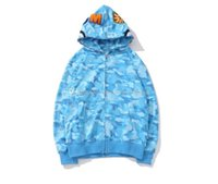 Erkek köpekbalığı hoodies nakış genç mavi pembe cam uçuş erkek gelgit hoodie erkekler çiftler kapüşonlu ceketler S-3XL