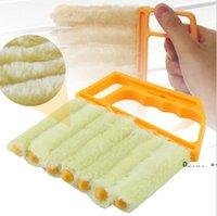 Microfibra útil Limpieza de la ventana Cepillo Acondicionador de aire Limpiador de plumero con paño de limpieza de cuchillas vencores lavables FWD10043