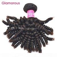 매력적인 브라질 곱슬 곱슬 한 처녀 머리 1 조각 인간의 머리카락 확장 공장 직접 말레이지 페루 인도 나선 곱슬 머리 위사