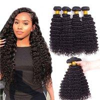 Wholesale High Quality Unprocessed 4 Bundles Deep Wave Raw Indian Virgin Hair Vendors 12-28 Inch Huge Stock