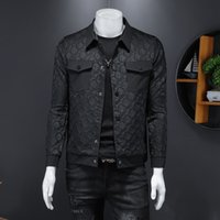 Hombres Primavera 2021 Chaqueta bordada Estilo coreano Moda guapo Herramienta de moda casual Chaqueta impresa