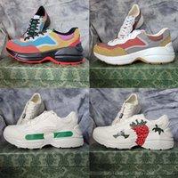 En Kaliteli Deri Sneaker Erkekler Kadınlar Kadın Ayakkabı Ile Çilek Dalga Ağız Kaplan Web Baskı Vintage Trainer Home011 03