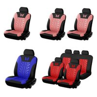 Car Seat Covers Set Universal Fit Most Auto With Butterfly Pattern Tire Track Detail Styling Protector For