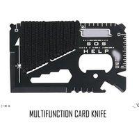 كل يوم تحمل 14 وظيفة في 1 الفولاذ المقاوم للصدأ متعددة الوظائف بطاقة سكين العسكرية التخييم حبل أداة أداة BWF11178