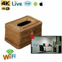 32G Mini HD 1080P Cámara WiFi Hidden Caja de tejido de mimbre oculto Butler Niñera DVR de videovigilancia.