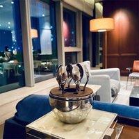 홈 가구 유행 크리스토로 파리 파리 분위기 커피 숟가락 키트 도금 스테인레스 스틸 계란 차 숟가락 세트 599 S2