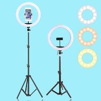 13 بوصة 33 سنتيمتر led selfie الدائري ضوء usb التصوير ضوء مع حامل ترايبود عكس الضوء الدافئ الباردة ملء الدائري مصباح ل youtube vk vlog 210419