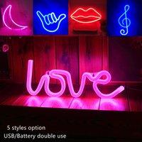 LED Neon Işık Oyuncaklar Işareti Mektup Aşk Pembe 3000 K Sevimli Gece Işıkları Yaratıcı Birhth Gün Hediyeler Fotoğraf Tatil Aydınlatma Düğün Parti Barları