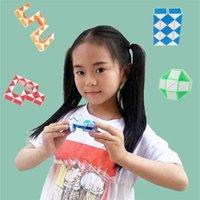 Tiktok dedo brinquedo em linha reta através de corda 24 segmentos Pequenos governantes mágicos Palm versátil versátil brinquedos sensação de estresse h41lldw