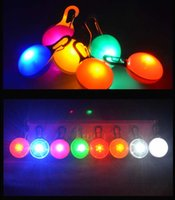 500pcs Multi Colors LED Pet Dog Collar Collars Collars Light Tag Colorato Lampeggiante Lemminanti Forniture luminose Glow Sicurezza ciondolo di Natale