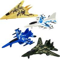 1 pz Bambini educazione giocattolo Mini Aircraft Models Toys Forza Fighter Aereo giocattolo giocattolo Militare Aereo Trondato Giocattolo casuale 4Colors