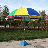 Tendas e abrigos Proteção UV de guarda-sol com a areia ajustável do pólo do telescópio da inclinação sem base (multicolorido)