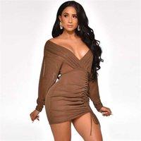 Robe SISPELL Lanterne Longues Robes De Mode Femme Print Shop pour Girls Rupel Collier Ruched Robe Femme Lâche Femme Casual Robe Robe Sleeve #MB