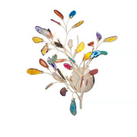 Lámpara de pared arte decorativo moderno flor LED luz de escono de noche de noche de rama de árbol de árbol de árbol de color