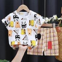 Toddler Boy Summer Short Sleeve Clothes Set Cartoon Print T Shirt Pants Kids Outfits Infant Girls Tracksuits Children Clothing