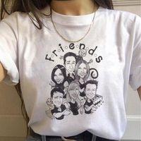 Womens T Tops Hemd Freunde TV Show Harajuku Damen Alphabet Casual Hohe Qualität Grafik