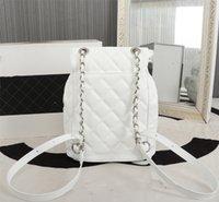 2021 High-End-Designer-Stil Hohe Qualität PU-Rucksack Leder Mode Große Größe Frauen Quan Bags + Tasche Kinder Ling Plaid Rucksäcke