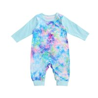 Jumpsuits 3Colors Baby Long Sleeve Tie-dye Print Romper Fashion For Infant Girls Boys