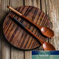 3 unids 23 cm cuchara de madera conjunto mango largo cuchara estilo japonés madera miel cafés sopa cucharas cucharadas de vajilla utensilios de madera