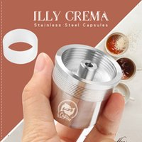 ICafilasICalifas Compatible for illy coffee Machine Maker STAINLESS STEEL Metal Refillable Reusable Coffee Capsule Pods Baskests 210426