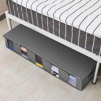 Aufbewahrungsbox unter dem Bett faltende Kleidung feuchtigkeitsdicht organizer Baumwollleinen staubfestes Quilt-Lager Taschen mit Deckel DWD6541