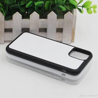 Blank 2D Sublimation Cases TPU PC DIY Printing Phone Case with Aluminum Inserts for iPhone 12 11 Pro Max XR 8 Plus