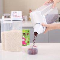 Хранение бутылок банки для банки для кухни с измерительной чашкой, пластиковым запечатанным, насекомым и влагостойким ведром лапши, рисовый цилиндр