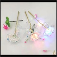 Decorative Flowers Wreaths Festive Party Supplies Home & Garden 24K Gold Foil Flower Lantern Gift Box Exquisite Novelty Valentine\S Day Swee