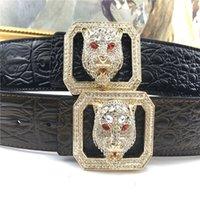 Brand Men's Belt Luxury Diamond Buckle Belts Designer Belts For Men Fashion Leather Belts Women's Belt