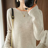 Autumn Winter Women Sweaters Casual Round Collar Long Sleeve Female Pullover 100% Wool Knitted Jumper Shirt Clothing Tops Blouse G1008
