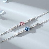 Ozeanherz S925 Sterling Silber Kristallkette Mode High Grad Österreichisches Armband Frauen Schmuck Valentinstag Geschenk