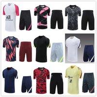 2021 Erkekler Kısa Kollu Eşofman Futbol Eğitim Takım T-Shirt Şort Futbol Üniforma Seti
